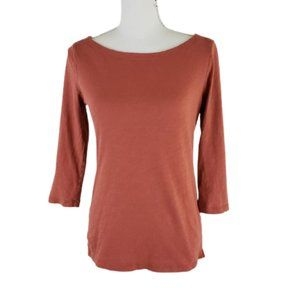 ANN TAYLOR Light Brown Blouse, 3/4 Sleeves Size XS